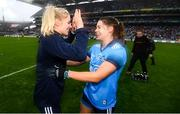 15 September 2019; Nicole Owens, left, and Noëlle Healy of Dublin celebrate following the TG4 All-Ireland Ladies Football Senior Championship Final match between Dublin and Galway at Croke Park in Dublin. Photo by Stephen McCarthy/Sportsfile