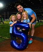 14 September 2019; Michael Darragh Macauley of Dublin celebrates with family following the GAA Football All-Ireland Senior Championship Final Replay match between Dublin and Kerry at Croke Park in Dublin. Photo by David Fitzgerald/Sportsfile