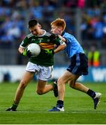 14 September 2019; Ben Murphy of Scoil Naomh Eoin Balloonagh Tralee, Co Kerry, in action against Seán Hanley of Kilmacud Crokes, Co Dublin, during the INTO Cumann na mBunscol GAA Respect Exhibition Go Games at Dublin v Kerry - GAA Football All-Ireland Senior Championship Final Replay at Croke Park in Dublin. Photo by David Fitzgerald/Sportsfile