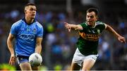 14 September 2019; Con O'Callaghan of Dublin in action against Tom O'Sullivan of Kerry during the GAA Football All-Ireland Senior Championship Final Replay match between Dublin and Kerry at Croke Park in Dublin. Photo by David Fitzgerald/Sportsfile