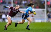 15 September 2019; Lyndsey Davey of Dublin in action against Orla Murphy of Galway during the TG4 All-Ireland Ladies Football Senior Championship Final match between Dublin and Galway at Croke Park in Dublin. Photo by Emma Meyler/Sportsfile