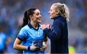 15 September 2019; Dublin players Sinéad Goldrick, left, and Nicole Owens after the TG4 All-Ireland Ladies Football Senior Championship Final match between Dublin and Galway at Croke Park in Dublin. Photo by Emma Meyler/Sportsfile