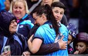 15 September 2019; Sinéad Goldrick of Dublin celebrates with her partner David Treacy after the TG4 All-Ireland Ladies Football Senior Championship Final match between Dublin and Galway at Croke Park in Dublin. Photo by Emma Meyler/Sportsfile