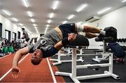 16 September 2019; Rhys Ruddock during an Ireland Rugby gym session at the Ichihara Suporeku Park in Ichihara, Japan. Photo by Brendan Moran/Sportsfile