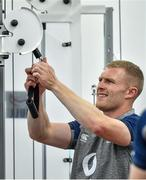 16 September 2019; Keith Earls during an Ireland Rugby gym session at the Ichihara Suporeku Park in Ichihara, Japan. Photo by Brendan Moran/Sportsfile