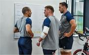 16 September 2019; Tadhg Furlong, centre, and Jack Conan with strength and conditioning coach Jason Cowman during an Ireland Rugby gym session at the Ichihara Suporeku Park in Ichihara, Japan. Photo by Brendan Moran/Sportsfile