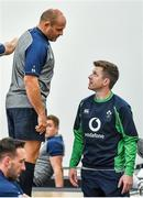 16 September 2019; Captain Rory Best with team physio Colm Fuller during an Ireland Rugby gym session at the Ichihara Suporeku Park in Ichihara, Japan. Photo by Brendan Moran/Sportsfile