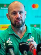 16 September 2019; Scrum coach Greg Feek during an Ireland Rugby press conference at the Hotel New Otani Makuhari in Chiba, Japan. Photo by Brendan Moran/Sportsfile