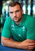 16 September 2019; Tadhg Beirne poses for a portrait during an Ireland Rugby press conference at the Hotel New Otani Makuhari in Chiba, Japan. Photo by Brendan Moran/Sportsfile