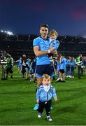 14 September 2019; Bernard Brogan of Dublin with his sons Keadán, front, and Donagh followong the GAA Football All-Ireland Senior Championship Final Replay between Dublin and Kerry at Croke Park in Dublin. Photo by Stephen McCarthy/Sportsfile