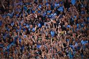 14 September 2019; Dublin supporters on Hill 16 celebrate a late score during the GAA Football All-Ireland Senior Championship Final Replay between Dublin and Kerry at Croke Park in Dublin. Photo by Stephen McCarthy/Sportsfile