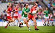 15 September 2019; Aisling Maguire of Fermanagh during the TG4 All-Ireland Ladies Football Junior Championship Final match between Fermanagh and Louth at Croke Park in Dublin. Photo by Stephen McCarthy/Sportsfile