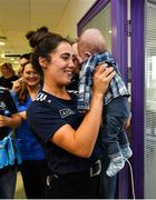 16 September 2019; Dublin ladies footballerHannah O'Neill meets James Ryan, age 6 months during the TG4 All-Ireland Senior Ladies Football Champions visit to Our Lady's Children's Hospital in Crumlin, Co Dublin. Photo by David Fitzgerald/Sportsfile