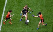 16 September 2019; Action from CLG Thuar Mhic Éadaigh, Maigh Eo, and CLG Bhearna, Gaillimh, during the #GAAgaeilge Go Games at Croke Park in Dublin. Photo by Piaras Ó Mídheach/Sportsfile