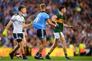 14 September 2019; Stephen Cluxton of Dublin pulls back team-mate Jonny Cooper during the GAA Football All-Ireland Senior Championship Final Replay match between Dublin and Kerry at Croke Park in Dublin. Photo by Eóin Noonan/Sportsfile