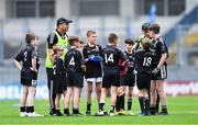 16 September 2019; The CLG Thuar Mhic Éadaigh, Maigh Eo, team talk during the #GAAgaeilge Go Games at Croke Park in Dublin. Photo by Piaras Ó Mídheach/Sportsfile