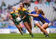 15 September 2019; Shauna Ennis of Meath and Niamh Lonergan of Tipperary during the TG4 All-Ireland Ladies Football Intermediate Championship Final match between Meath and Tipperary at Croke Park in Dublin. Photo by Stephen McCarthy/Sportsfile
