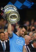 14 September 2019; Michael Darragh Macauley of Dublin lifts the Sam Maguire Cup following the GAA Football All-Ireland Senior Championship Final Replay between Dublin and Kerry at Croke Park in Dublin. Photo by Seb Daly/Sportsfile