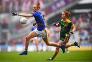 15 September 2019; Aishling Moloney of Tipperary and Orlaith Duff of Meath during the TG4 All-Ireland Ladies Football Intermediate Championship Final match between Meath and Tipperary at Croke Park in Dublin. Photo by Stephen McCarthy/Sportsfile