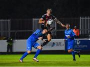 16 September 2019; Rob Cornwall of Bohemians in action against Liam Brady of Crumlin United during the Extra.ie FAI Cup Quarter-Final match between Crumlin United and Bohemians at Richmond Park in Dublin. Photo by Seb Daly/Sportsfile