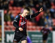 16 September 2019; Andy Lyons of Bohemians celebrates after scoring his side's second goal during the Extra.ie FAI Cup Quarter-Final match between Crumlin United and Bohemians at Richmond Park in Dublin. Photo by Seb Daly/Sportsfile
