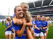 15 September 2019; Caitlín Kennedy and Emma Morrissey, right, of Tipperary celebrate following the TG4 All-Ireland Ladies Football Intermediate Championship Final match between Meath and Tipperary at Croke Park in Dublin. Photo by Stephen McCarthy/Sportsfile