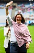 15 September 2019; Noirin Walsh a member of the Waterford 1994 Jubilee team is honoured ahead of the TG4 All-Ireland Ladies Football Senior Championship Final match between Dublin and Galway at Croke Park in Dublin. Photo by Stephen McCarthy/Sportsfile