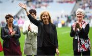 15 September 2019; Ann Dunford a member of the Waterford 1994 Jubilee team is honoured ahead of the TG4 All-Ireland Ladies Football Senior Championship Final match between Dublin and Galway at Croke Park in Dublin. Photo by Stephen McCarthy/Sportsfile