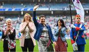 15 September 2019; Catherine Walsh a member of the Waterford 1994 Jubilee team is honoured ahead of the TG4 All-Ireland Ladies Football Senior Championship Final match between Dublin and Galway at Croke Park in Dublin. Photo by Stephen McCarthy/Sportsfile