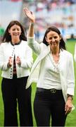15 September 2019; Sinead Walsh a member of the Waterford 1994 Jubilee team is honoured ahead of the TG4 All-Ireland Ladies Football Senior Championship Final match between Dublin and Galway at Croke Park in Dublin. Photo by Stephen McCarthy/Sportsfile