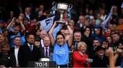 15 September 2019; Niamh McEvoy of Dublin lifts the Brendan Martin Cup following the TG4 All-Ireland Ladies Football Senior Championship Final match between Dublin and Galway at Croke Park in Dublin. Photo by Stephen McCarthy/Sportsfile