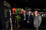 17 September 2019; In attendance, from left, are former hurlers Conor Hayes of Galway, Nicky English of Tipperary and Terence 'Sambo' McNaughton of Antrim at the GAA Museum where they were inducted into the Hall of Fame during the GAA Museum Hall of Fame 2019 at Croke Park in Dublin. Photo by David Fitzgerald/Sportsfile