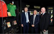 17 September 2019; In attendance, from left, are former footballers Colm O'Rourke of Meath, Denis 'Ogie' Moran of Kerry and Larry Tompkins of Cork at the GAA Museum where they were inducted into the Hall of Fame during the GAA Museum Hall of Fame 2019 at Croke Park in Dublin. Photo by David Fitzgerald/Sportsfile