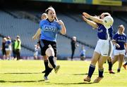 17 September 2019; Niamh Donnelly of Dublin in action against Niamh McMahon of Munster during the M.Donnelly GAA Football for ALL Interprovincial Finals at Croke Park in Dublin. Photo by Sam Barnes/Sportsfile