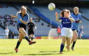 17 September 2019; Saoirse Oglesby of Dublin in action against Niamh McMahon of Munster during the M.Donnelly GAA Football for ALL Interprovincial Finals at Croke Park in Dublin. Photo by Sam Barnes/Sportsfile