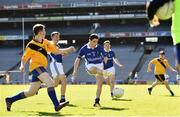 17 September 2019; Calvin Kelly of Munster shoots to score a goal despite the attentions of Sean Turner of Ulster during the M.Donnelly GAA Football for ALL Interprovincial Finals at Croke Park in Dublin. Photo by Sam Barnes/Sportsfile