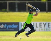 17 September 2019; Gareth Delany of Ireland plays a shot during the T20 International Tri Series match between Ireland and Scotland at Malahide Cricket Club in Dublin. Photo by Seb Daly/Sportsfile