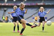 17 September 2019; Saoirse Oglesby of Dublin shoots to score a goal during the M.Donnelly GAA Football for ALL Interprovincial Finals at Croke Park in Dublin. Photo by Sam Barnes/Sportsfile
