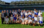 17 September 2019; Uachtarán Chumann Lúthchleas Gael John Horan with players and coaches representing Connacht during the M.Donnelly GAA Football for ALL Interprovincial Finals at Croke Park in Dublin. Photo by Sam Barnes/Sportsfile