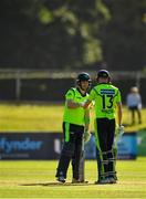 17 September 2019; Andrew Balbirnie, left, and Harry Tector of Ireland during the T20 International Tri Series match between Ireland and Scotland at Malahide Cricket Club in Dublin. Photo by Seb Daly/Sportsfile