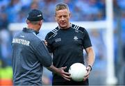 14 September 2019; Dublin selector Declan D'Arcy, right, with manager Jim Gavin before the GAA Football All-Ireland Senior Championship Final Replay between Dublin and Kerry at Croke Park in Dublin. Photo by Piaras Ó Mídheach/Sportsfile