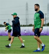 18 September 2019; Defence coach Andy Farrell, right, with head coach Joe Schmidt during Ireland Rugby squad training at the Ichihara Suporeku Park in Ichihara, Japan. Photo by Brendan Moran/Sportsfile