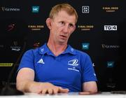 18 September 2019; Leinster head coach Leo Cullen in attendance during the Guinness PRO14 launch at Aviva Stadium in Dublin. Photo by Harry Murphy/Sportsfile