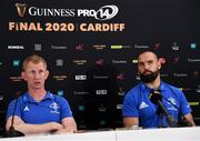 18 September 2019; Leinster head coach Leo Cullen and Scott Fardy in attendance during the Guinness PRO14 launch at Aviva Stadium in Dublin. Photo by Harry Murphy/Sportsfile