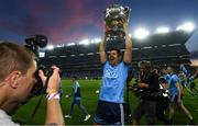 14 September 2019; Cian O'Sullivan of Dublin and Sportsfile photographer Seb Daly following the GAA Football All-Ireland Senior Championship Final Replay match between Dublin and Kerry at Croke Park in Dublin. Photo by Ramsey Cardy/Sportsfile