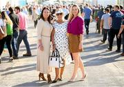 18 September 2019; Liz Farrell from Carlow with Karen Maloney, left, and Shannon O'Dowd, right, from Etihad Airways, after being announced as Etihad Airways' 'Best Dressed Country Style' winner at the National Ploughing Championship in Ballintrane, Fenagh, Co. Carlow. This year's prize includes two return economy flights from Dublin to Abu Dhabi, a two-night stay in the luxury Yas Hotel built over the F1 Grand Prix race track, a two-night stay in the prominent 5-Star Fairmont Bab Al Bahr and two complimentary 3-park passes for Yas Island. Photo by Stephen McCarthy/Sportsfile