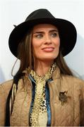 18 September 2019; Catherine Furlong, from New Ross, Wexford, during the Etihad Airways' 'Best Dressed Country Style' competition at the National Ploughing Championship in Ballintrane, Fenagh, Co. Carlow. This year's prize includes two return economy flights from Dublin to Abu Dhabi, a two-night stay in the luxury Yas Hotel built over the F1 Grand Prix race track, a two-night stay in the prominent 5-Star Fairmont Bab Al Bahr and two complimentary 3-park passes for Yas Island. Photo by Stephen McCarthy/Sportsfile