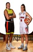 18 September 2019; Kaitlyn Slagus, left, and Alyssa Velles of IT Carlow Basketball pictured at the 2019/2020 Basketball Ireland Season Launch and Hula Hoops National Cup draw at the National Basketball Arena in Tallaght, Dublin. Photo by Sam Barnes/Sportsfile