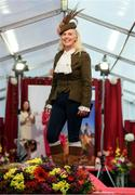 18 September 2019; Gillian Kelleher from Millstreet, Cork, during the Etihad Airways' 'Best Dressed Country Style' competition at the National Ploughing Championship in Ballintrane, Fenagh, Co. Carlow. This year's prize includes two return economy flights from Dublin to Abu Dhabi, a two-night stay in the luxury Yas Hotel built over the F1 Grand Prix race track, a two-night stay in the prominent 5-Star Fairmont Bab Al Bahr and two complimentary 3-park passes for Yas Island. Photo by Stephen McCarthy/Sportsfile