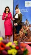 18 September 2019; Celia Holman Lee with Gillian Kelleher, from Millstreet, Cork, during the Etihad Airways' 'Best Dressed Country Style' competition at the National Ploughing Championship in Ballintrane, Fenagh, Co. Carlow. This year's prize includes two return economy flights from Dublin to Abu Dhabi, a two-night stay in the luxury Yas Hotel built over the F1 Grand Prix race track, a two-night stay in the prominent 5-Star Fairmont Bab Al Bahr and two complimentary 3-park passes for Yas Island. Photo by Stephen McCarthy/Sportsfile